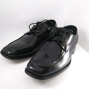 Stacy Adams black dress men shoes size 9.5